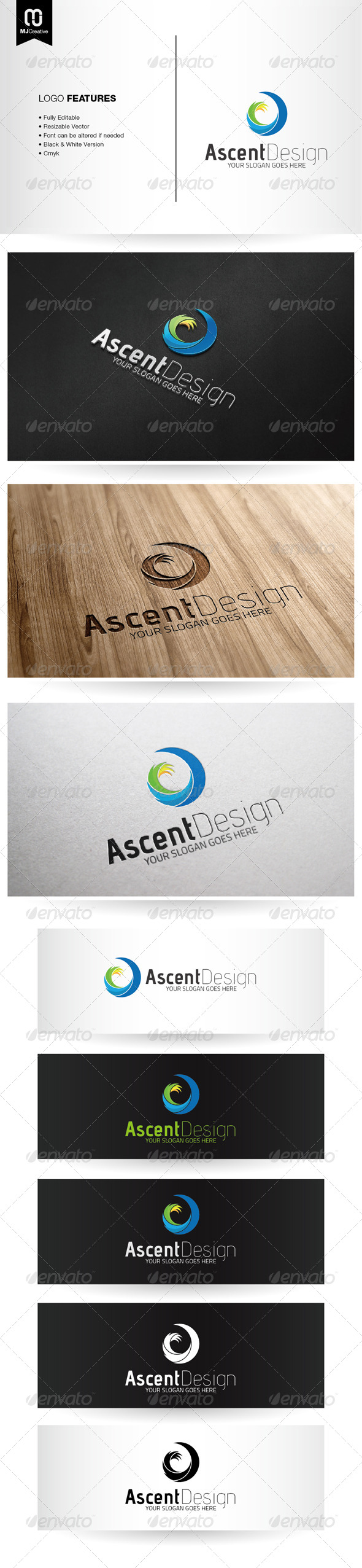 Abstract Spiral A Logo - Letters Logo Templates