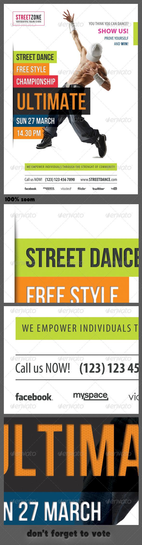 Street Dance Multipurpose Flyer - Sports Events