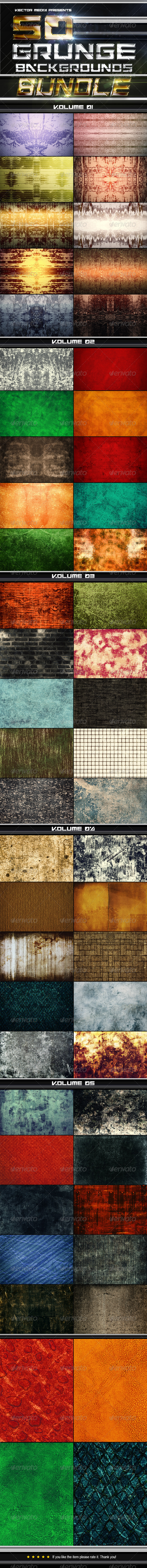 50 Grunge Backgrounds - Bundle - Miscellaneous Backgrounds