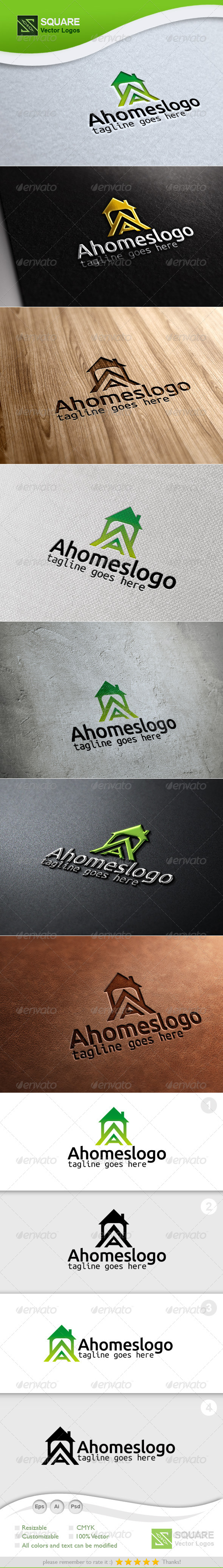 A, House Vector Logo Template - Letters Logo Templates