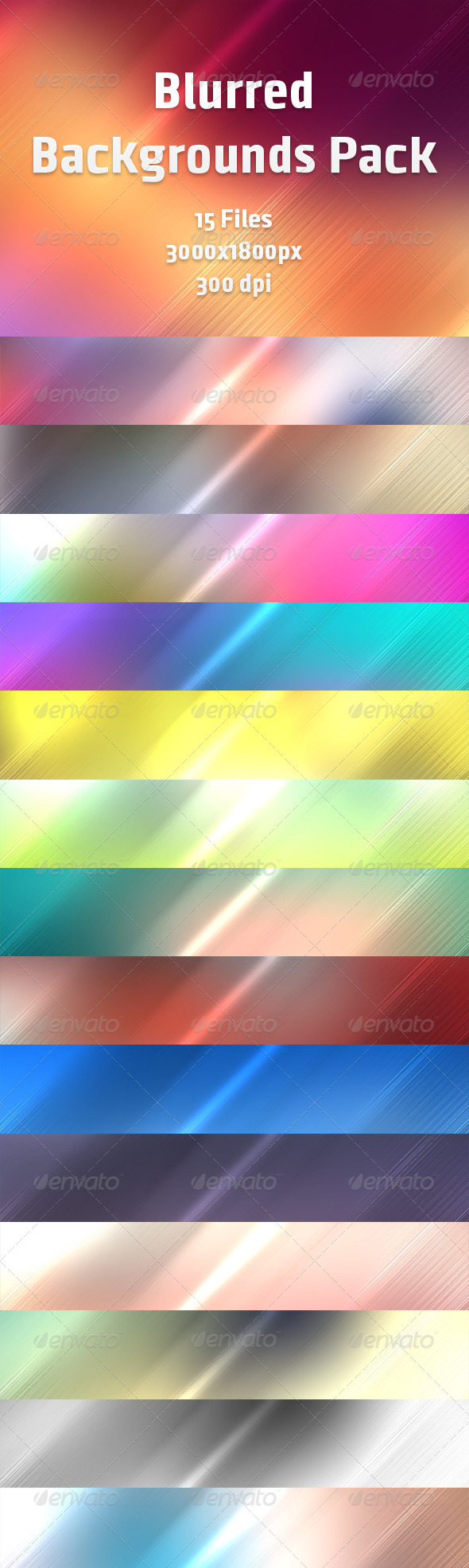 Blurred Backgrounds Pack - Backgrounds Graphics