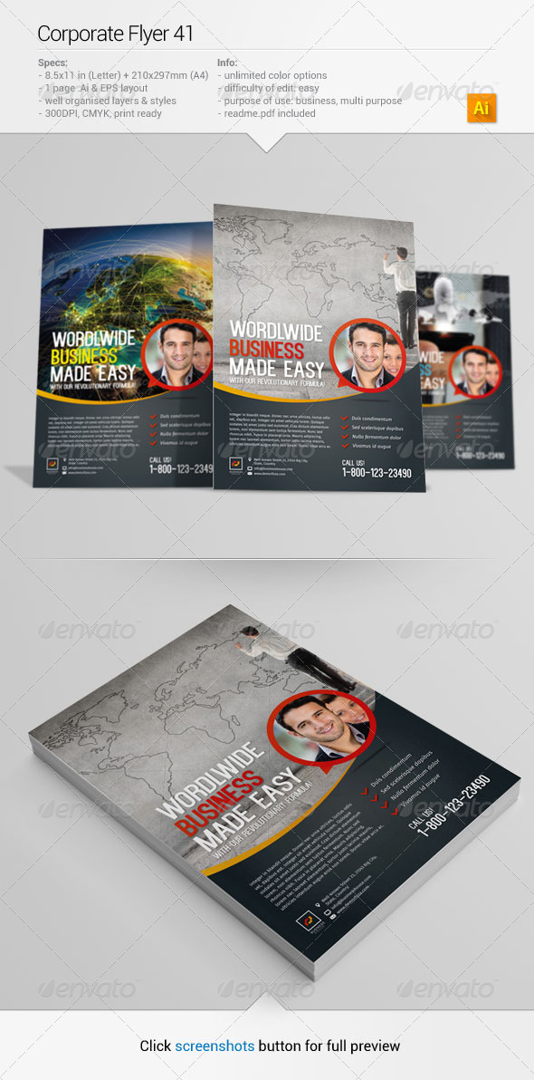 Corporate Flyer 41 - Corporate Flyers