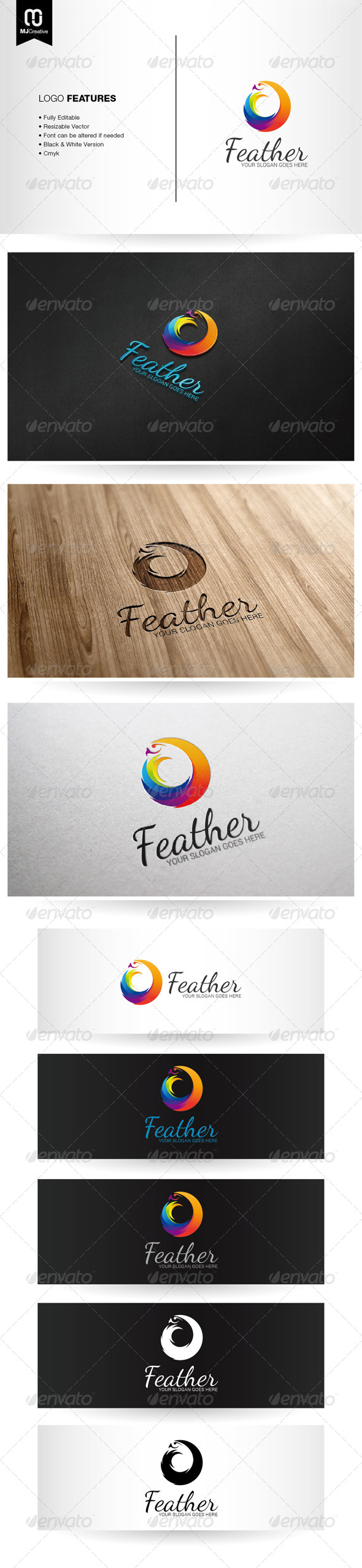 Abstract Colorful Bird Logo - Vector Abstract