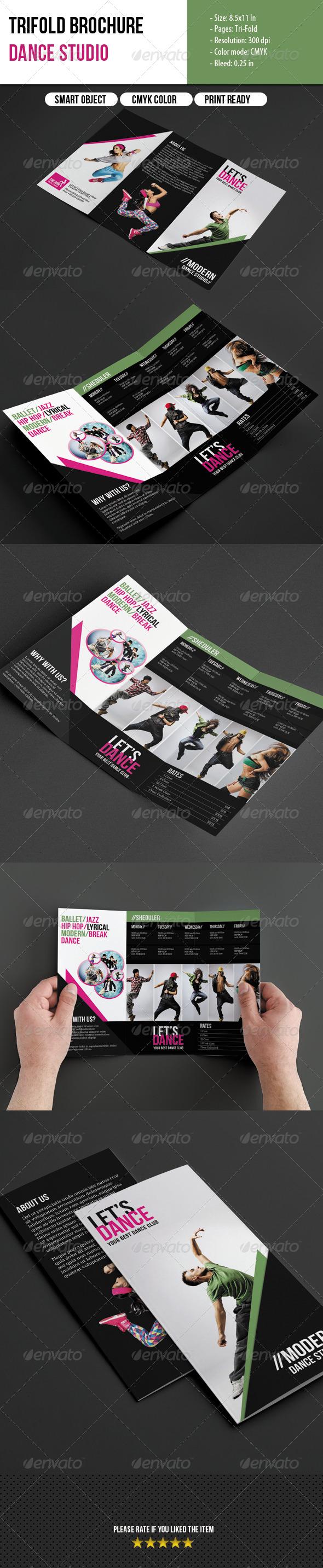 Trifold Brochure-Dance Studio - Corporate Brochures