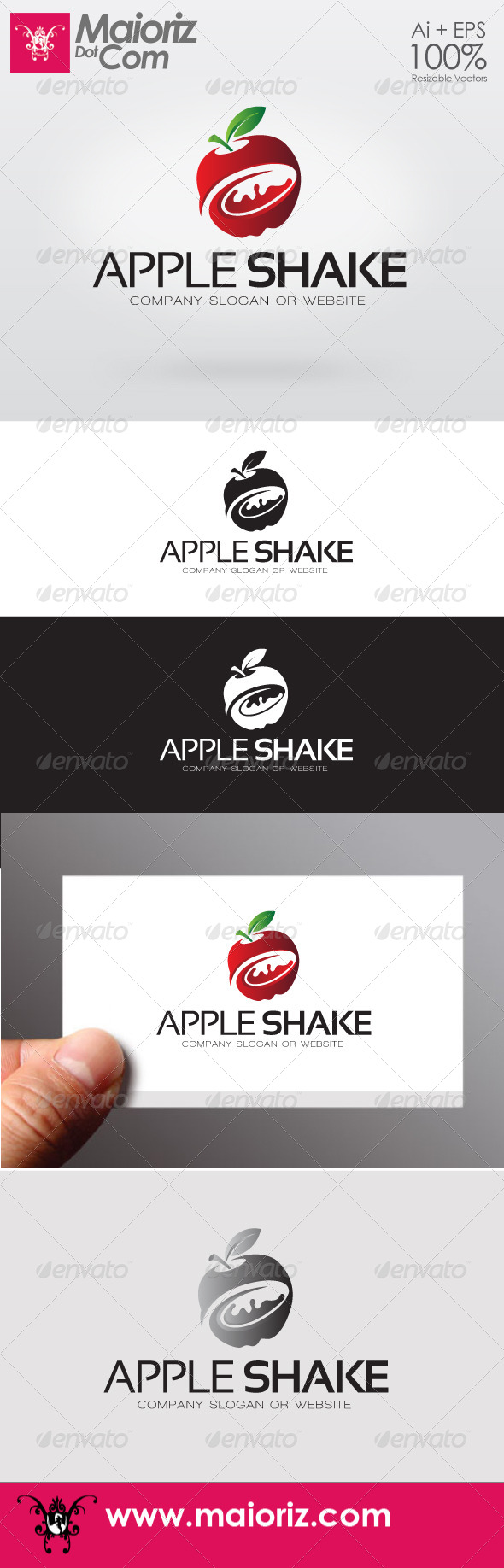 Apple Shake Logo - Food Logo Templates