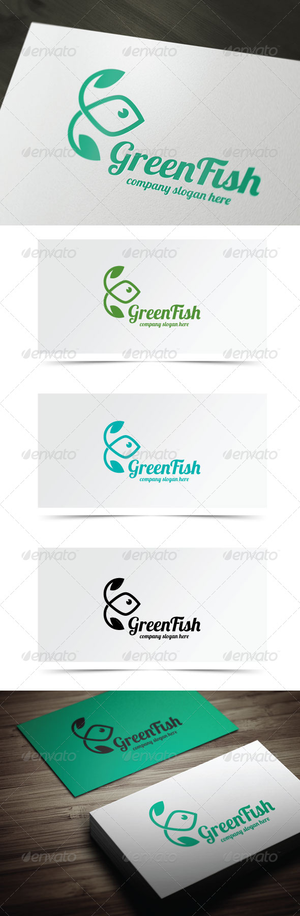 Green Fish - Animals Logo Templates