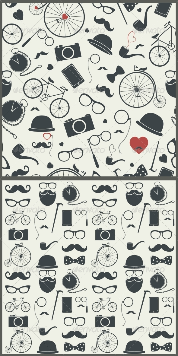 Hipster Seamless Pattern - Patterns Decorative