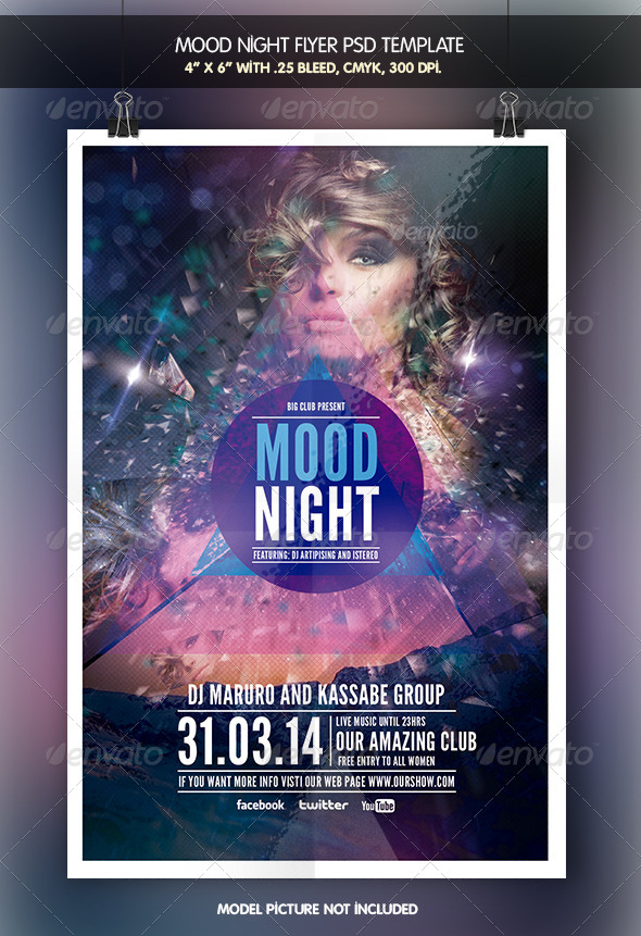Mood Night | Party Flyer - Clubs & Parties Events