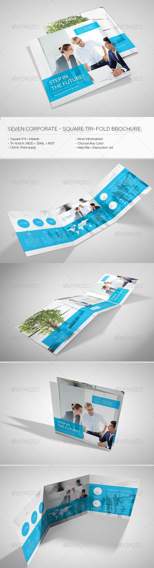 Square Corporate Tri-fold Brochure - Brochures Print Templates
