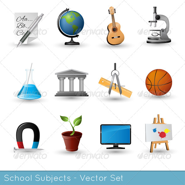 School Subjects Icon Set - Miscellaneous Icons