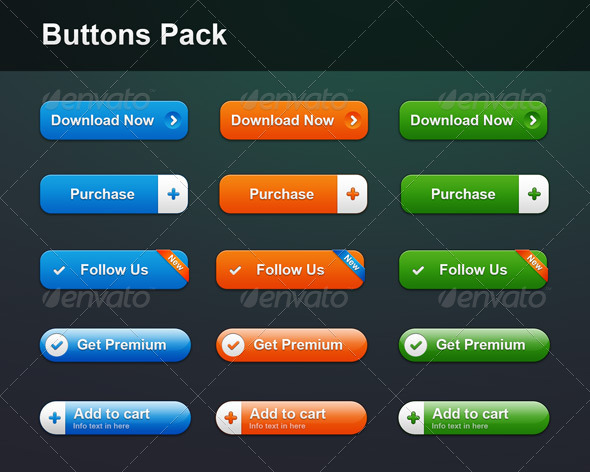 Buttons Pack - Buttons Web Elements
