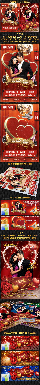 Valentine's Day Bundle - Events Flyers