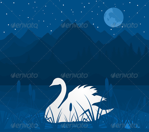 White swan - Animals Characters