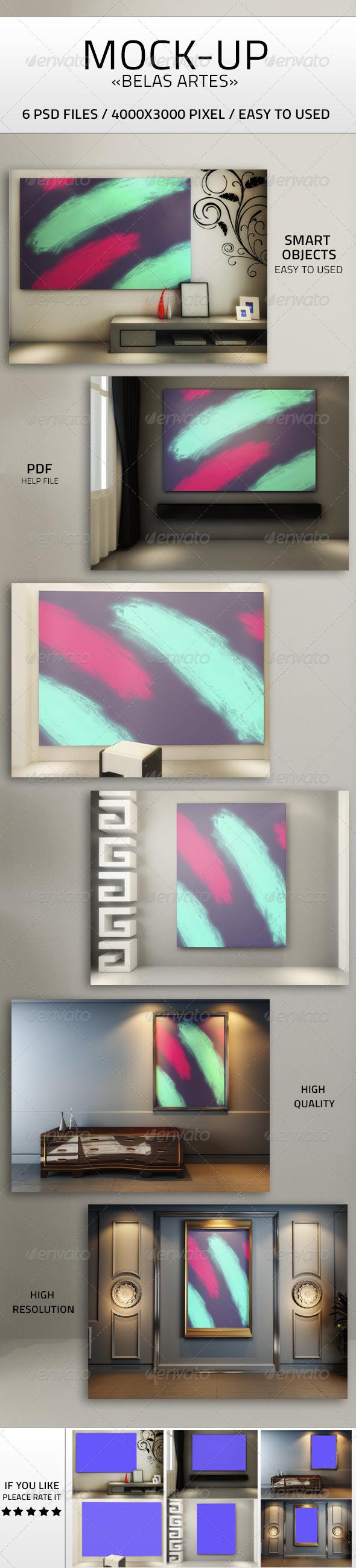 Art Mock-up PSD - Product Mock-Ups Graphics