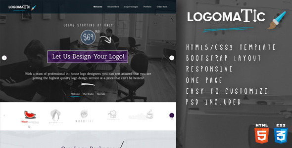 Logomatic - One Page HTML Template - Creative Site Templates