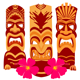 Tiki Statues Set - GraphicRiver Item for Sale