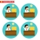 Office Worker at the Desk - GraphicRiver Item for Sale