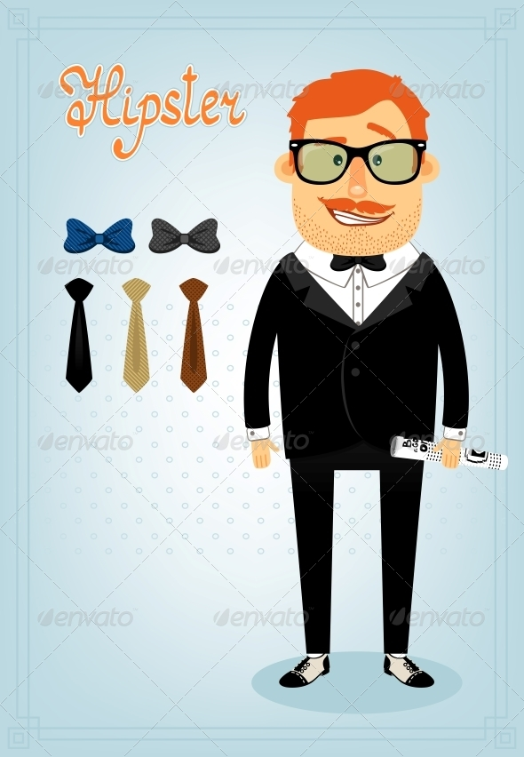 Hipster Character Pack for Business Man - People Characters