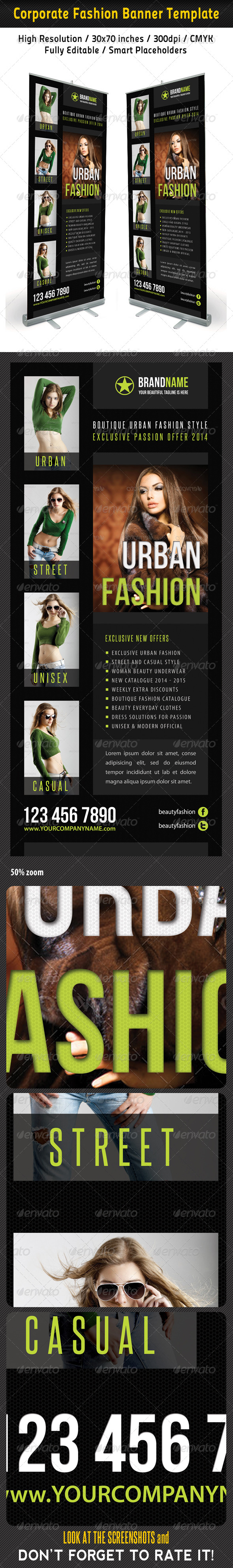 Fashion Multipurpose Banner Template 30 - Signage Print Templates