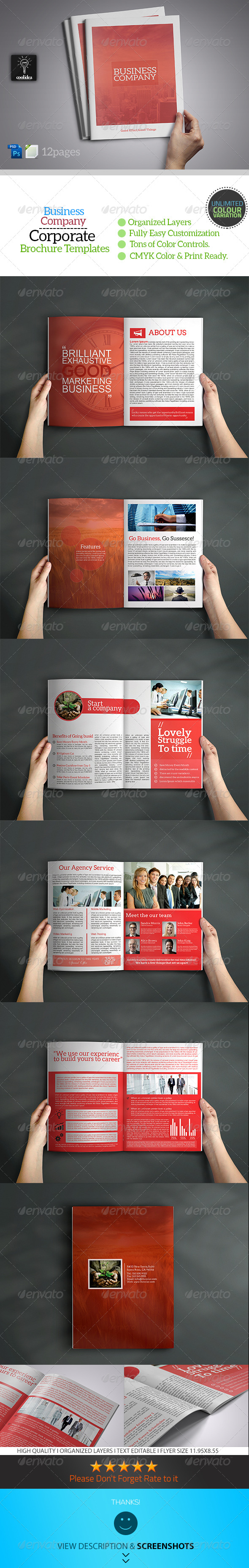 A4 Business Brochure Template - Corporate Brochures