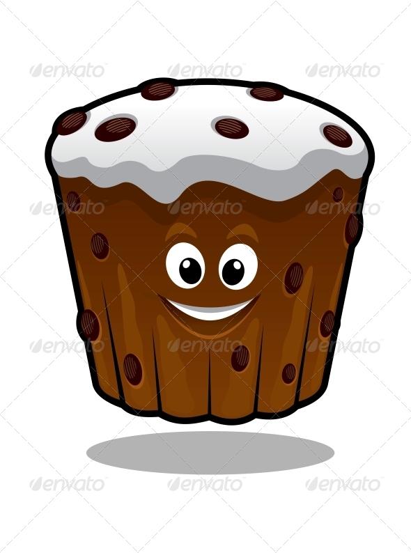 Cartoon Cupcake - Food Objects