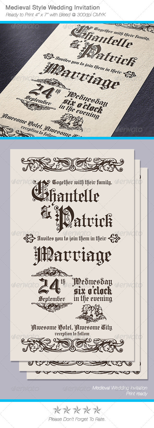Medieval Style Wedding Invitation - Weddings Cards & Invites