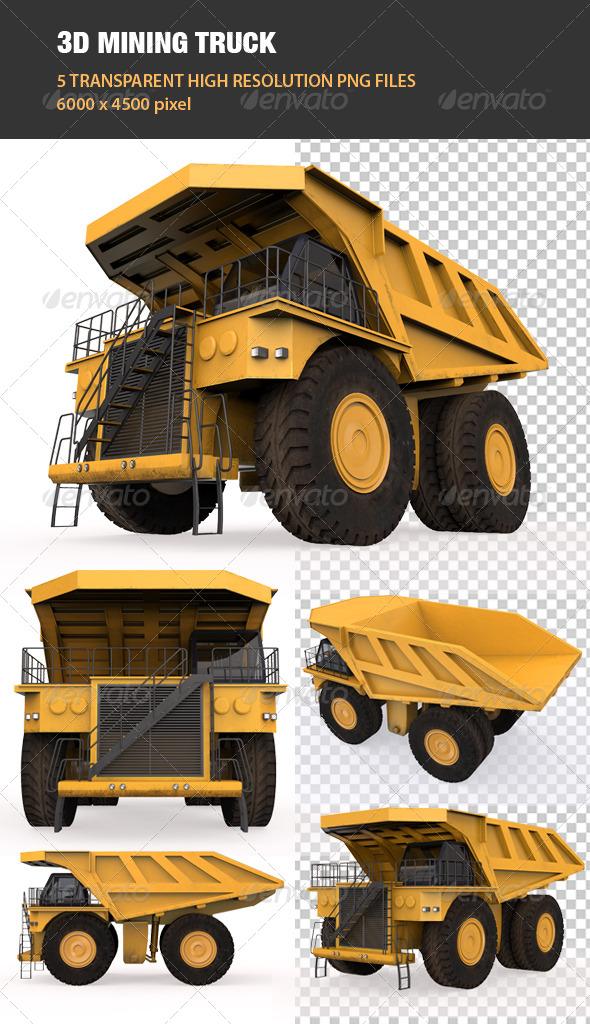 3D Mining Truck - Objects 3D Renders