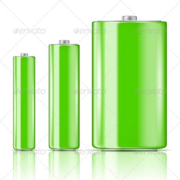 Green Battery Range. - Man-made Objects Objects