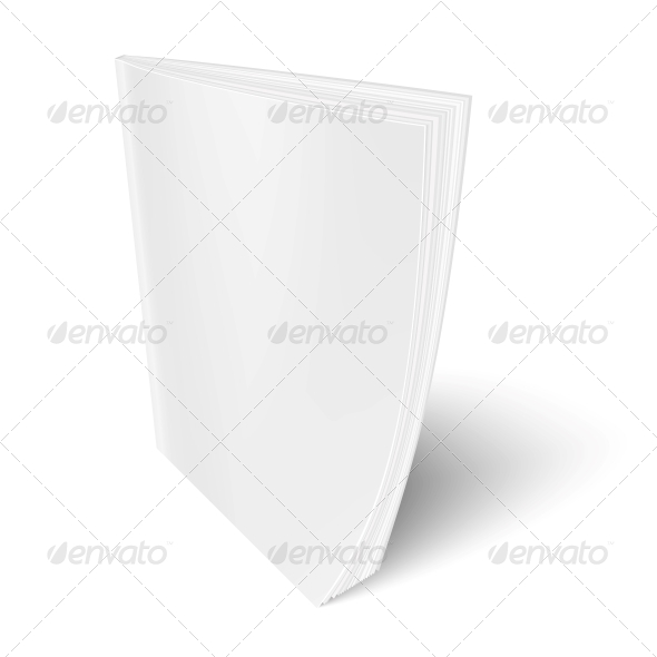 Blank Vertical Magazine Template. - Man-made Objects Objects