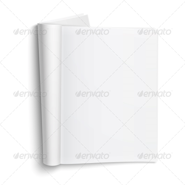 Blank Open Magazine Template - Man-made Objects Objects