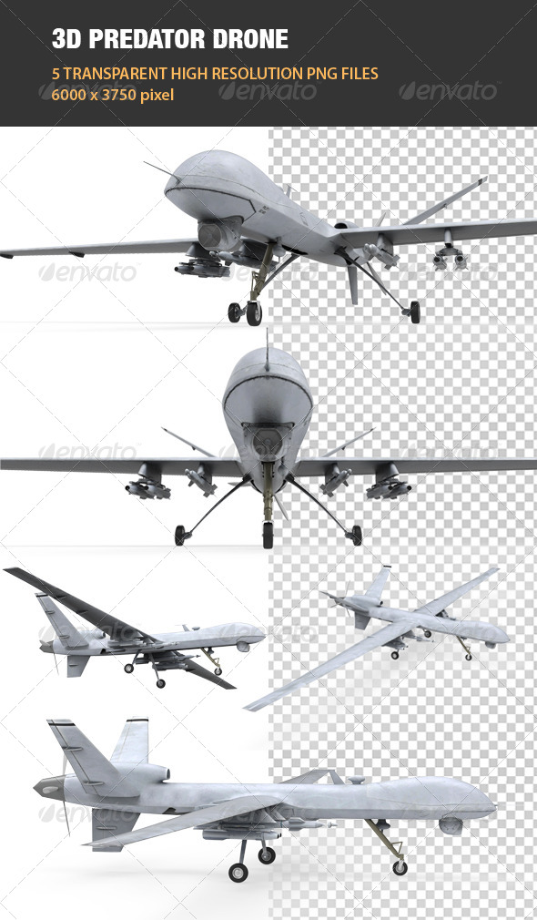 3D Predator Drone - Technology 3D Renders