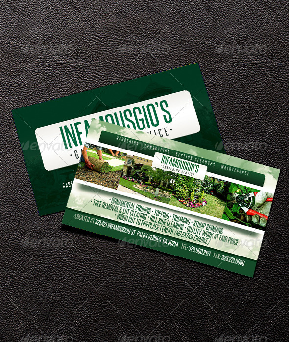 Gardening business card 4 by infamousgio graphicriver gardening business card 4 business cards print templates colourmoves