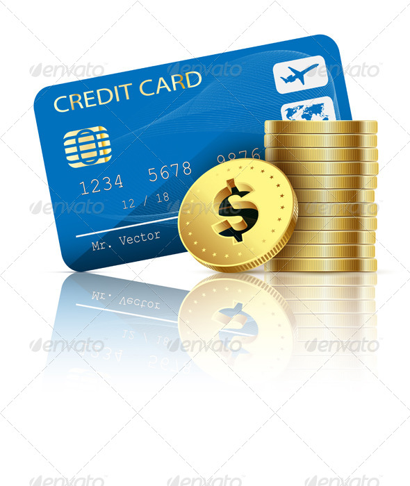 Credit Card and Coins  - Concepts Business