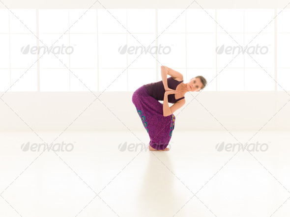 advanced yoga practice - Stock Photo - Images