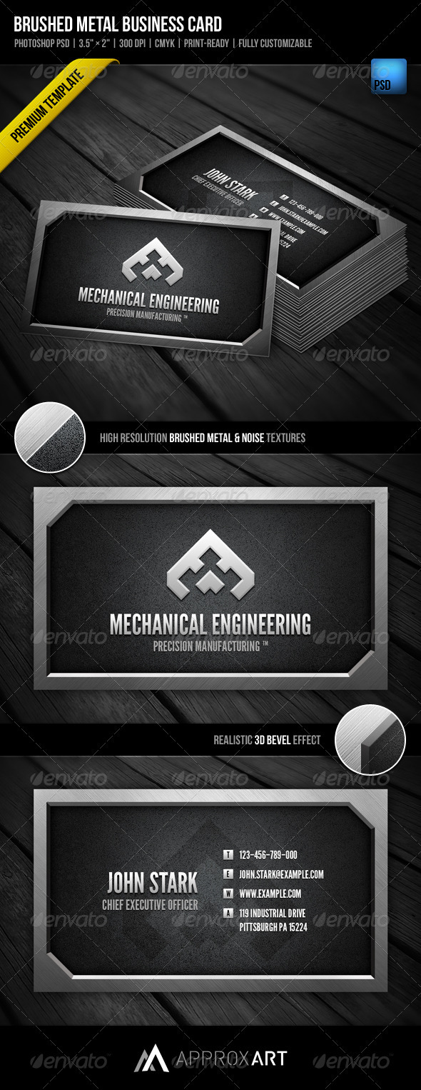 Brushed Metal Business Card - Creative Business Cards