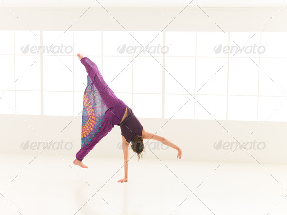 woman make wheel in studio - Stock Photo - Images