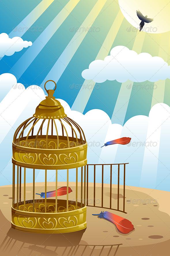 Freedom Concept - Conceptual Vectors