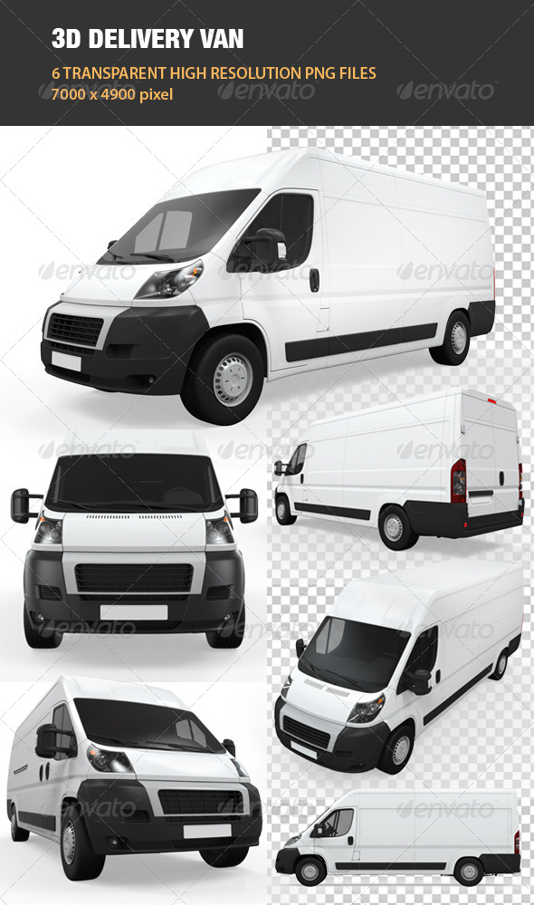 3D Delivery Van - Objects 3D Renders