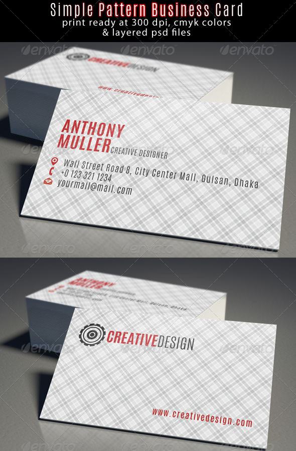 Creative Designer Business Card - Business Cards Print Templates