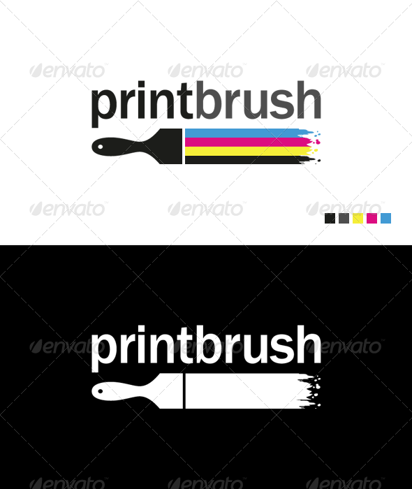 Print Brush - Logo Template - Objects Logo Templates