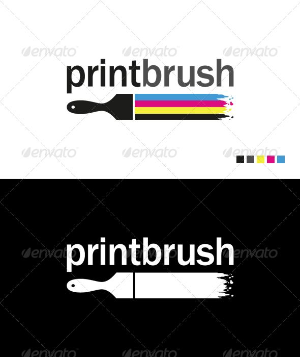 Print Brush - Logo Template - Objects Logo Templates