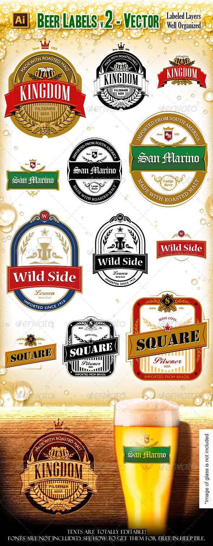 Beer Labels V.2 - Vectors