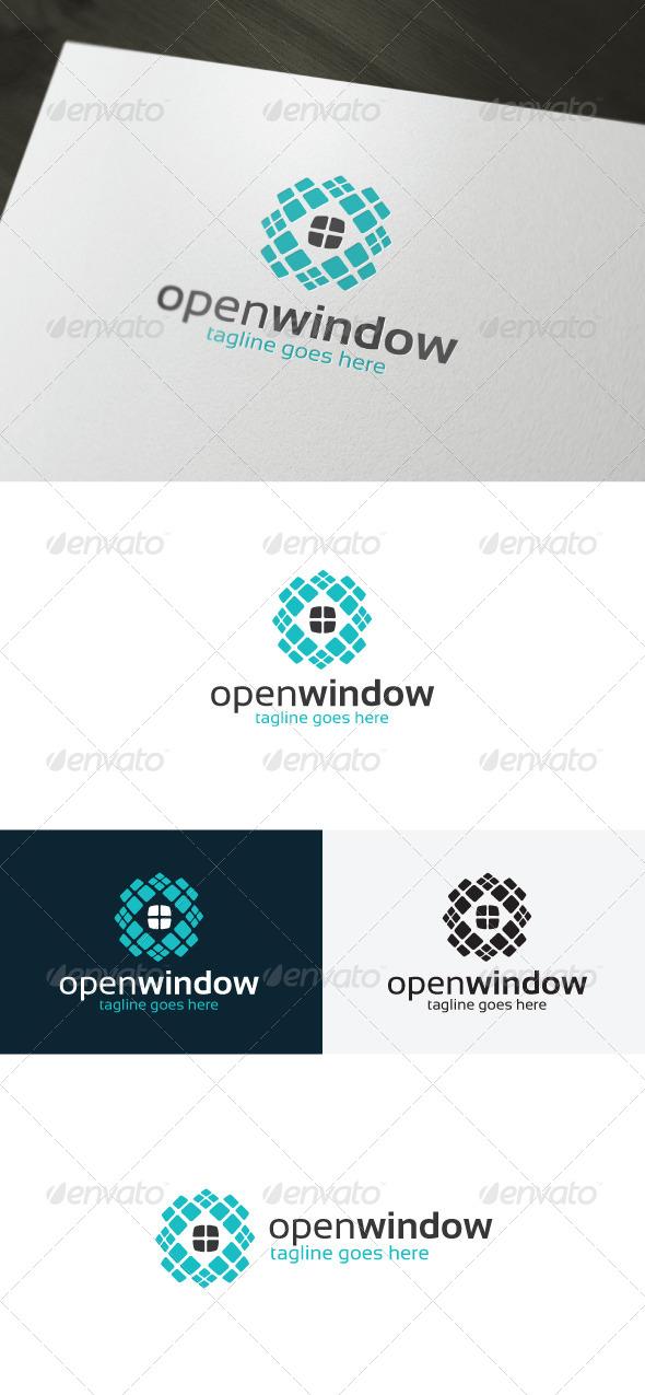 Open Window Logo - Vector Abstract