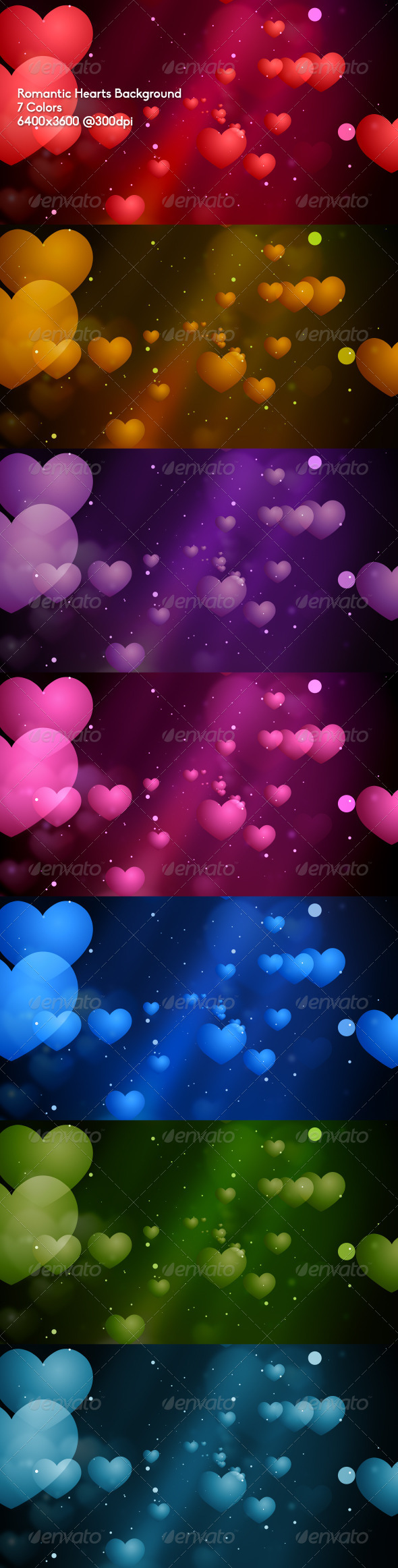 Romantic Hearts Background - Abstract Backgrounds