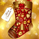 Gift Christmas sock decorated - GraphicRiver Item for Sale