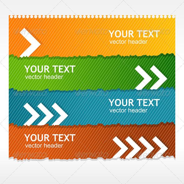 Vector Colorful Text Box  - Web Elements Vectors
