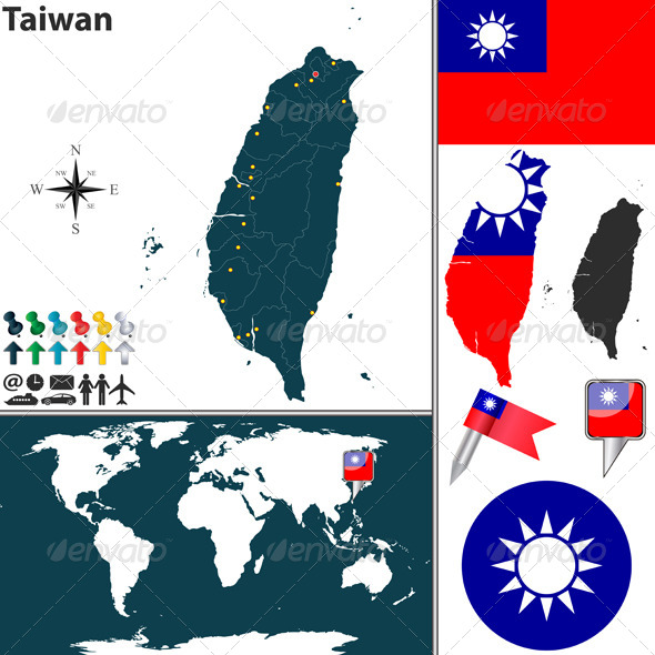 Map of Taiwan - Travel Conceptual