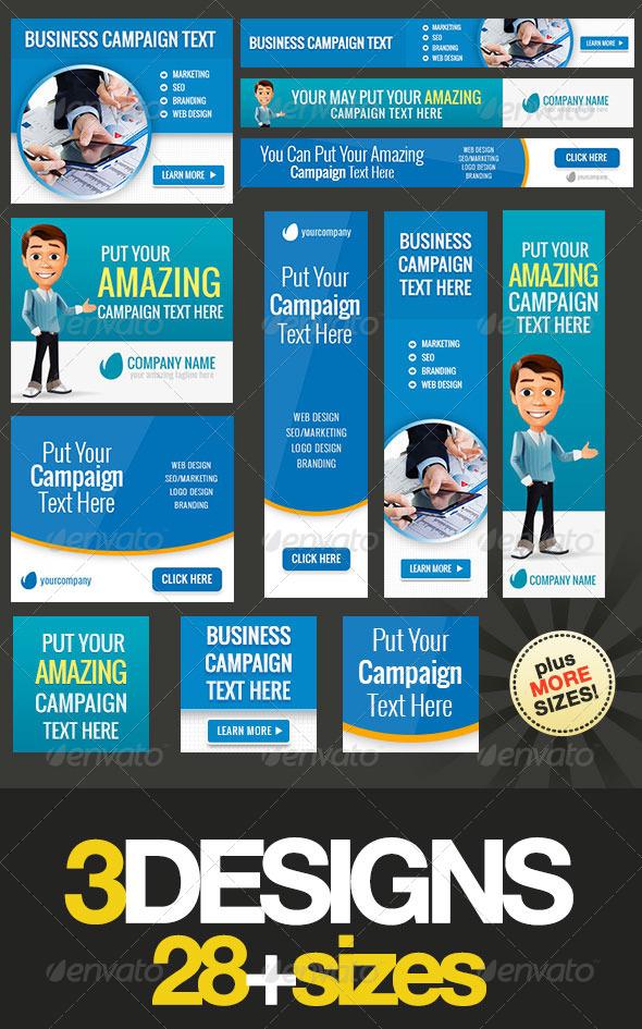Multipurpose Web Banner Design Bundle 5 - Banners & Ads Web Elements