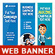 Multipurpose Web Banner Design Bundle 5 - GraphicRiver Item for Sale