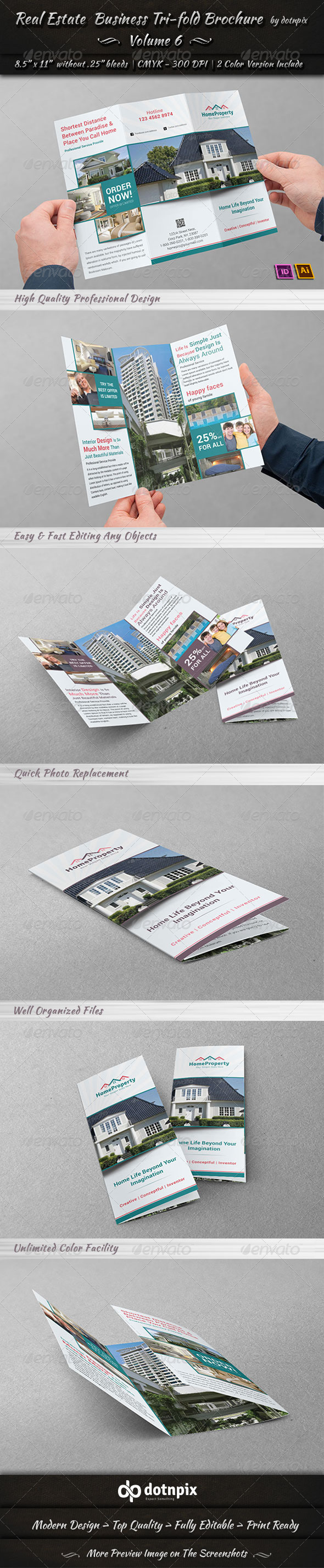 Real Estate Business TriFold Brochure | Volume 6 - Corporate Brochures